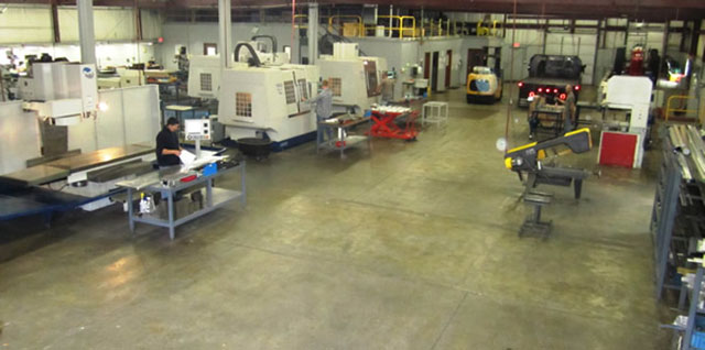 machine shop from rear